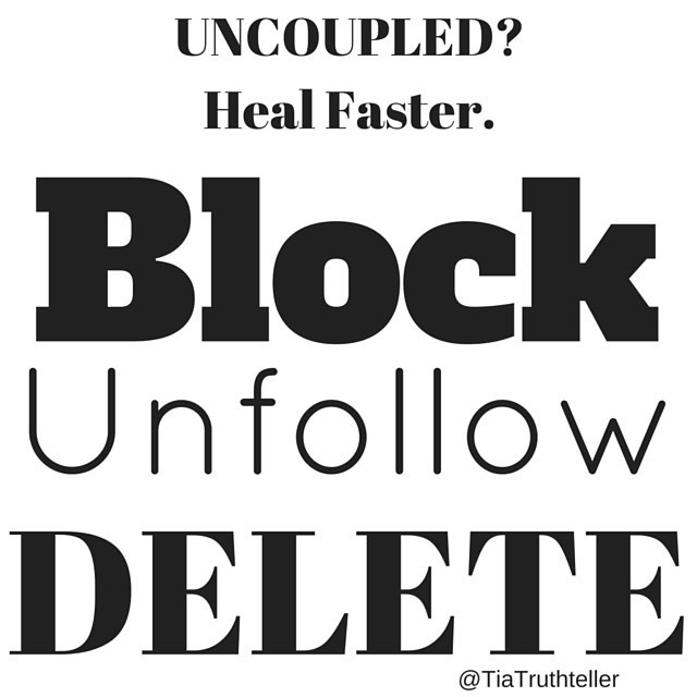 heal faster after a breakup by cutting all ties. Block him, unfollow, delete