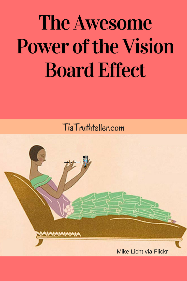 The awesome power of the vision board effect. This woman relaxing on a chaise represented how I was going to do me in my next chapter